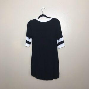 no comment Dresses - No Comment Black with White Stripes Dress